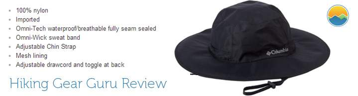 Eminent storm waterproof hiking hat for rain by Columbia