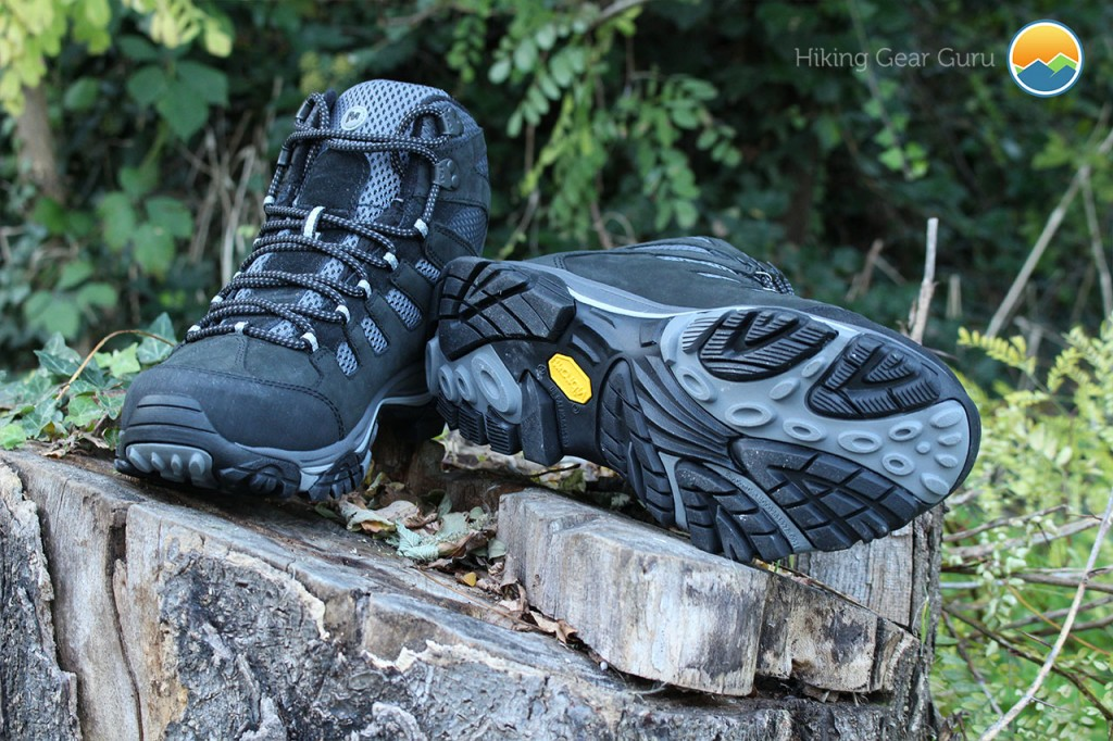 A great pair of boots at a really great price. Traction provided by Merrell's Moab Ventilator